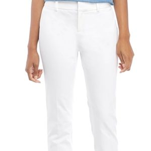 Crown & Ivy Cary Bi Stretch Fly Front Pants White